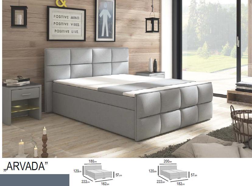 łóżko Kontynentalne Arvada Comfort 180x200