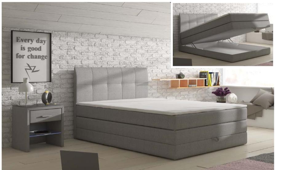 łóżko Kontynentalne Visalia Megacomfortvisco 140x200