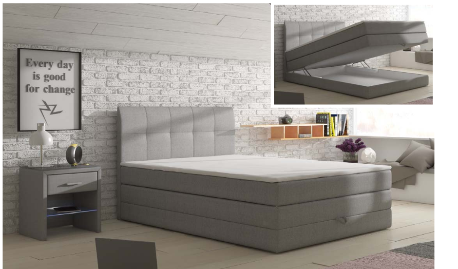 łóżko Kontynentalne Visalia Comfort 140x200