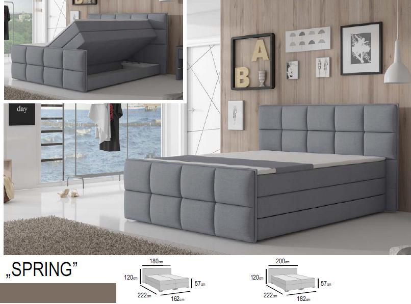łóżko Kontynentalne Spring Megacomfort 160x200