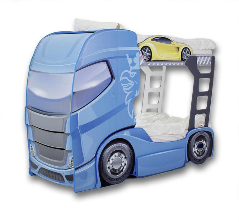 Truck łóżko Piętrowe Dwupoziomowe Z Szafą Samochód Ciężarowy